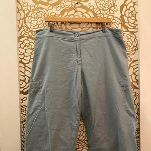 Eileen Fisher Wide Leg Crop Pants Sky Blue